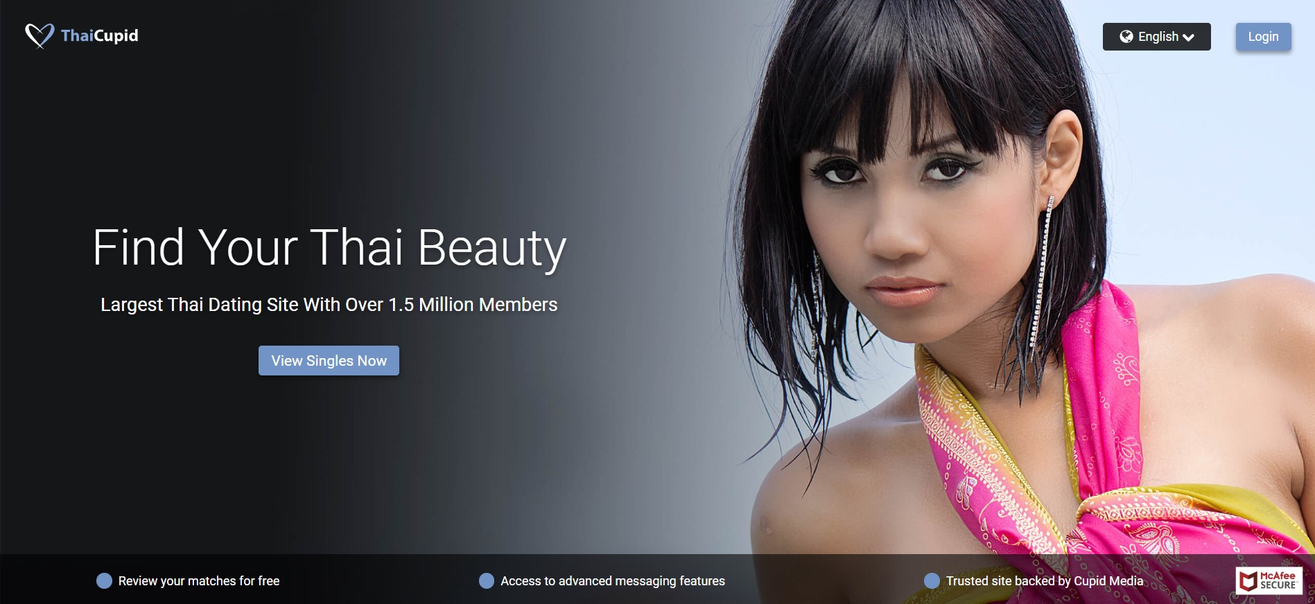 ThaiCupid main page