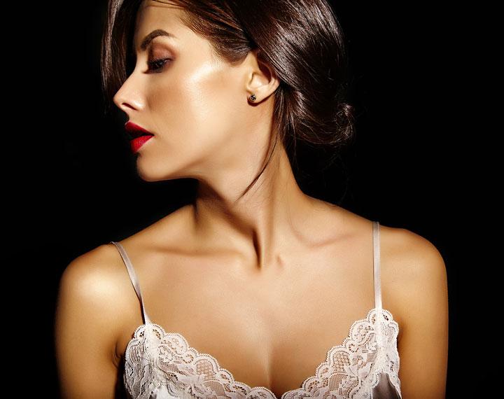 beautiful sensual cute sexy brunette woman